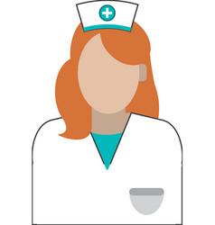 Female nurse icon vector