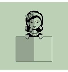 beautiful lady design vector image