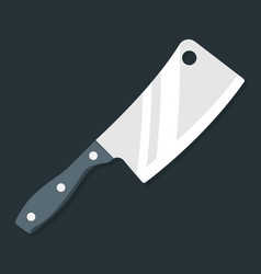 butcher knife kitchen knife and meat knife vector image vector image