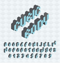 Cubic font big colorful letters standing vector