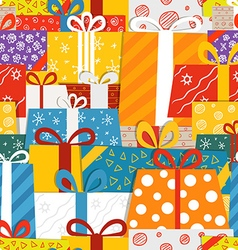 Different gift boxes seamless pattern vector