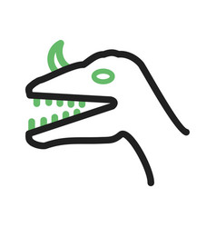 Dinosaur face vector