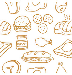 Food various of doodle collection stock vector
