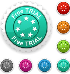 Free trial award vector
