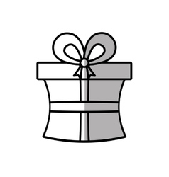 Gift box ribbon celebration party shadow vector