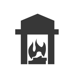 Heater silhouette icon Object design vector image