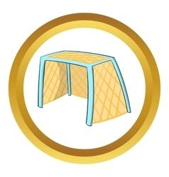 Hockey gates icon cartoon style vector