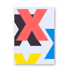 letter x poster vector image vector image