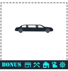 Limousine icon flat vector