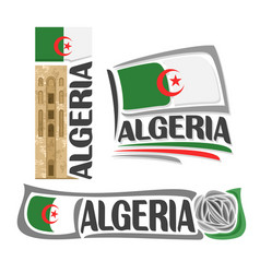 logo for algeria vector image