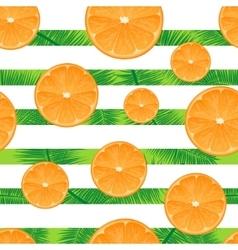 Orange striped background Seamless vector image vector image