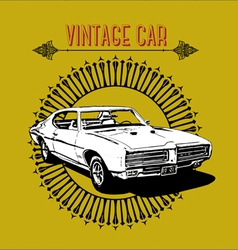 retro poster vintage car vector image