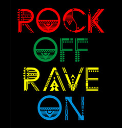 Rock of rave on vector