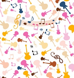 Seamless Music Background Stave Seamless Pattern vector image vector image