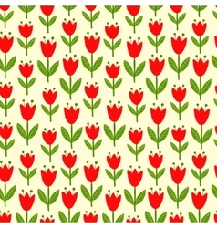 seamless with tulips vector image vector image