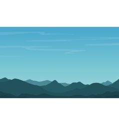 Silhouette of hill with blue sky background vector image vector image