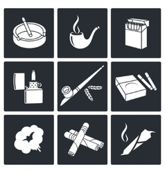 Smoking Icon set vector image vector image