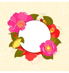 Springtime colorful flower greeting card vector