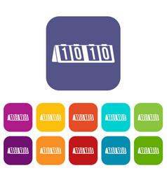 Tennis scoreboard icons set vector