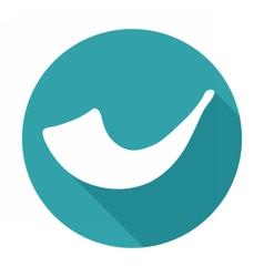 White image of shofar horn vector image