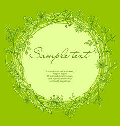 wreath with text vector image vector image
