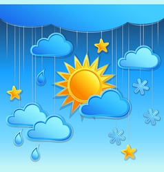 Background with day weather icon vector