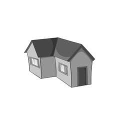 House with a roof icon black monochrome style vector