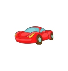 Small red italian car icon cartoon style vector