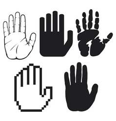 black hands vector image