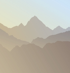 Silhouette of mountains vector
