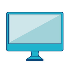 Computer desktop with template icon vector