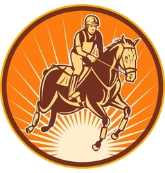 Equestrian show jumping horse vector