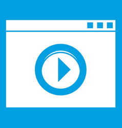 Video player icon white vector