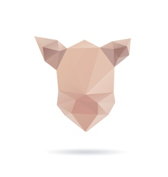 Pig head abstract isolated on a white backgrounds vector image