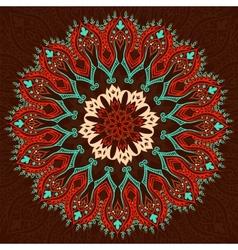 Round Vintage Pattern vector image