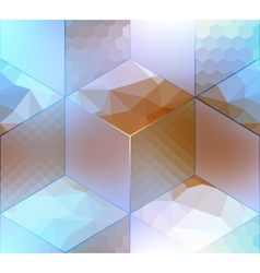 Imitation of cubes with different surfaces vector