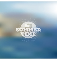Summer time poster web and mobile vector