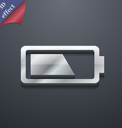 Battery half level icon symbol 3d style trendy vector
