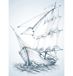 Sailboat wallpaper vector