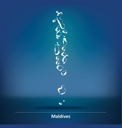 Doodle map of maldives vector