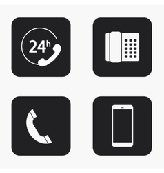 Modern phone icons set vector