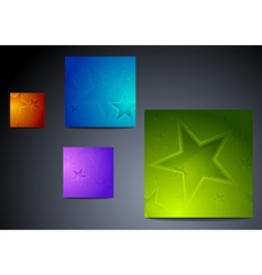 colourful star backgrounds vector image