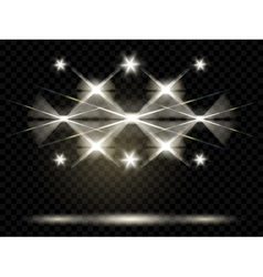 Spotlights illumination vector