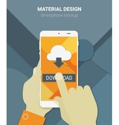 Cloud computing app mockup vector