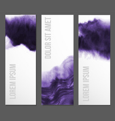 Banners with abstract ultraviolet purple grunge vector