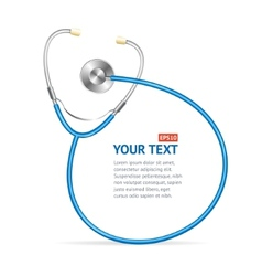 blue Stethoscope with place for text vector image vector image
