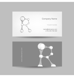 Business card design with letter R vector image