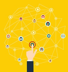 Business communication Social media and network vector image vector image