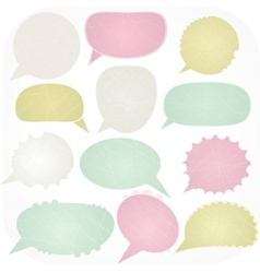 Cartoon speech bubbles vector image