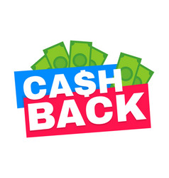 cash back modern flat style vector image vector image